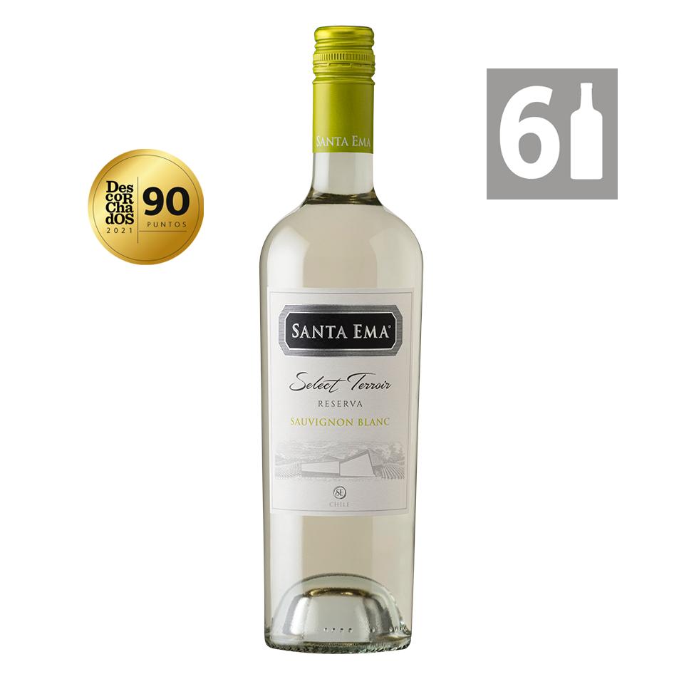 Sauvignon Blanc  Terroir Reserva  Viña Santa Ema Caja de 6 botellas