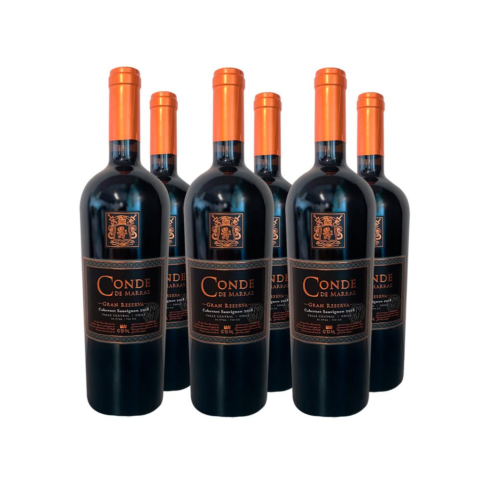 Pack 6 Cabernet Sauvignon Conde de Marrás Gran Reserva - Viña Requingua