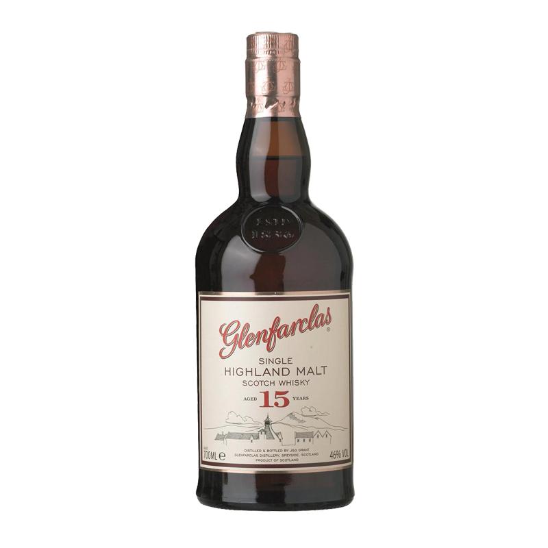 Whisky Escocés Glenfarclas 15 años Súper Premium