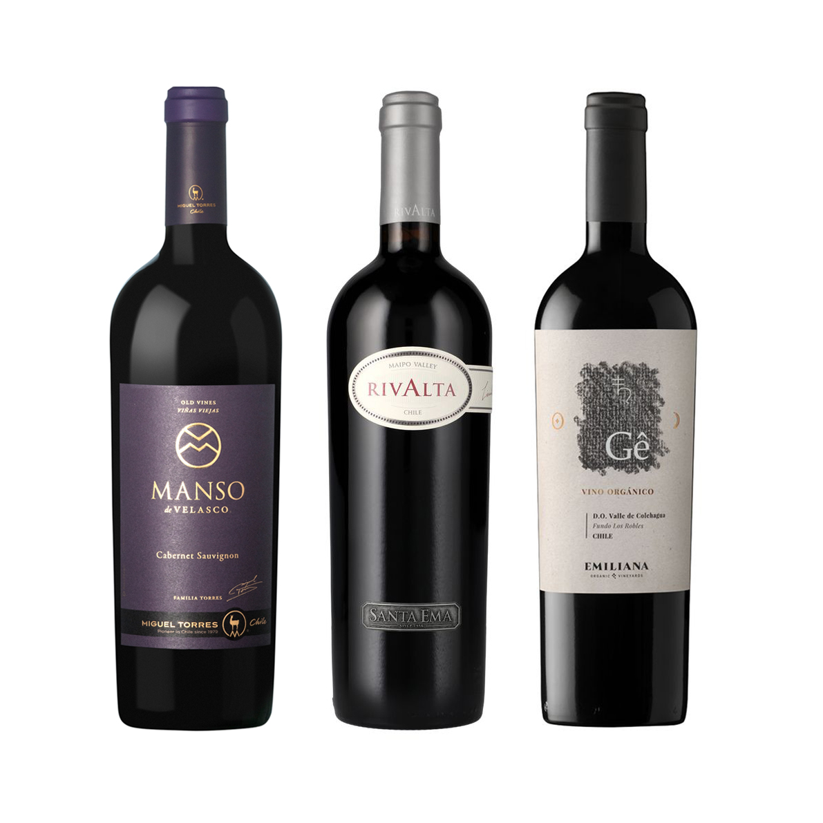 Pack 3 Iconos Manso de Velasco - Rivalta - Gê