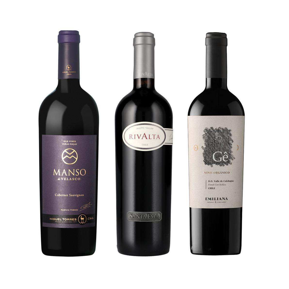 Mix 3 vinos Iconos - Manso de Velasco - Rivalta - Gê