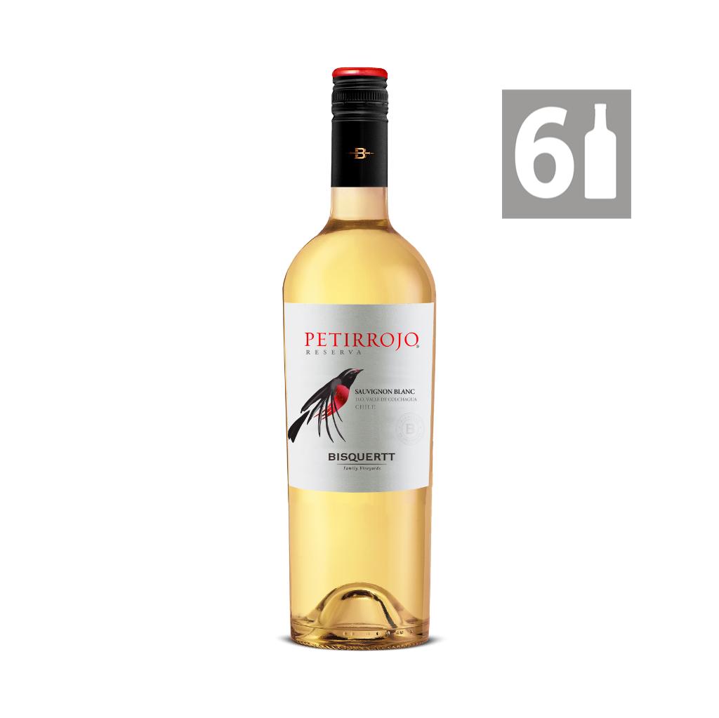 Pack 6  Petirrojo Sauvignon Blanc Reserva