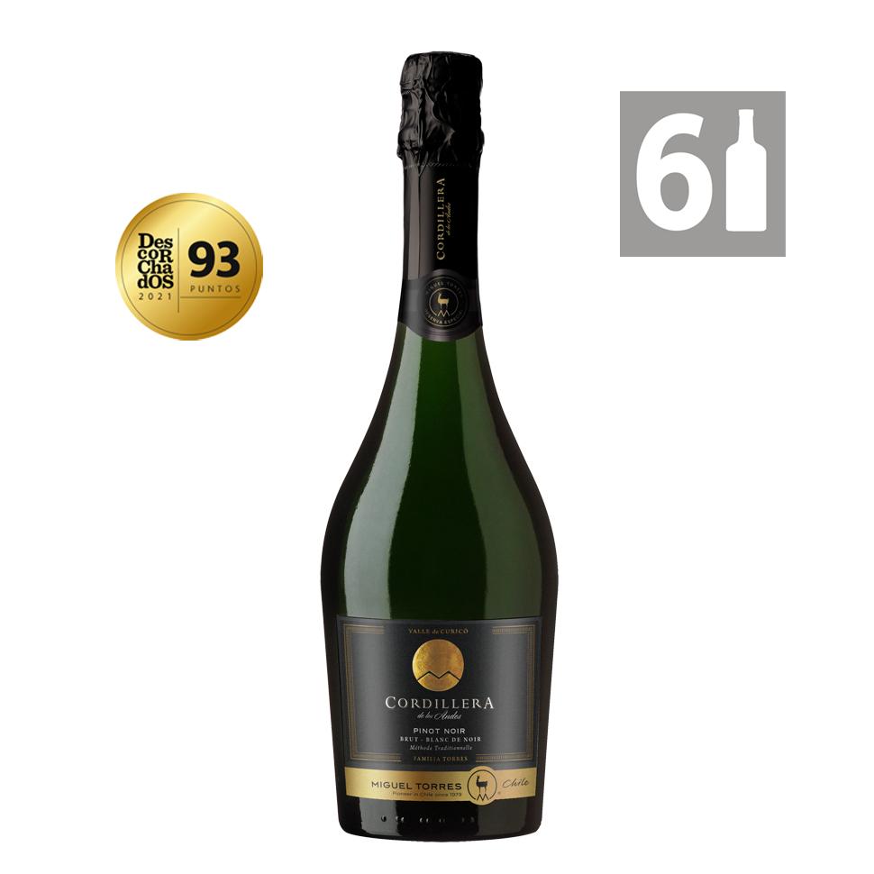 Pack 6 Espumante Brut SPARKLING Pinot Noir - Cordillera - Viña Miguel Torres