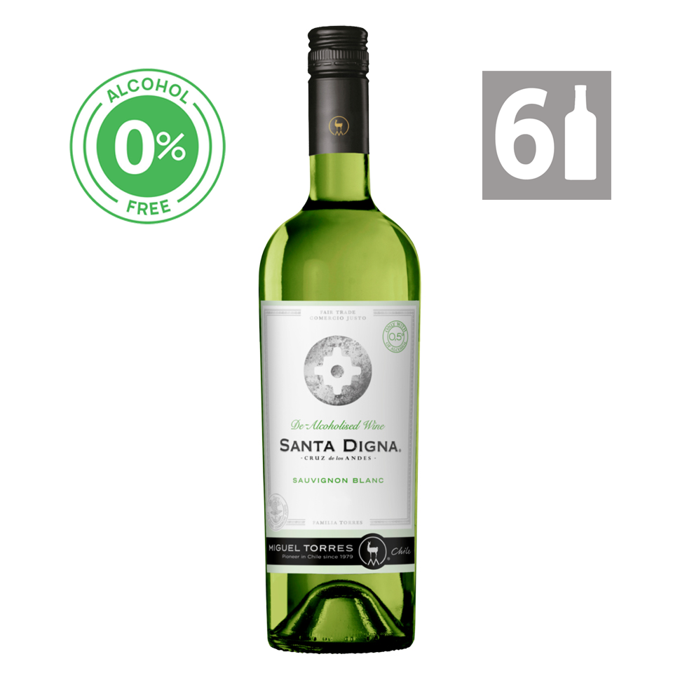 Pack 6 Sauvignon Blanc - Alcohol Free Reserva Santa Digna - Viña Miguel Torres