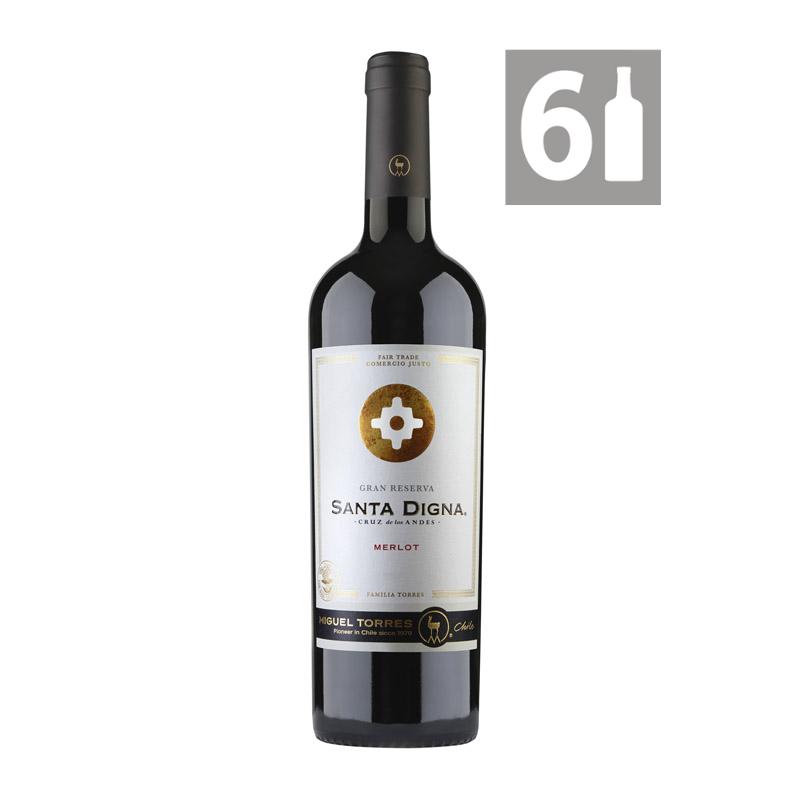 Pack 6 Merlot Gran Reserva Santa Digna - Viña Miguel Torres