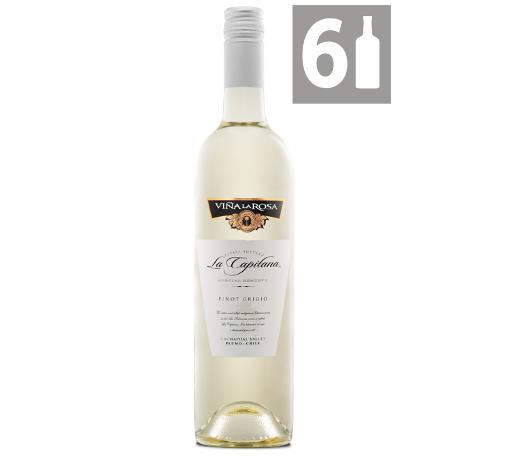 Pack 6 La Capitana Pinot Grigio Reserva - Viña La Rosa