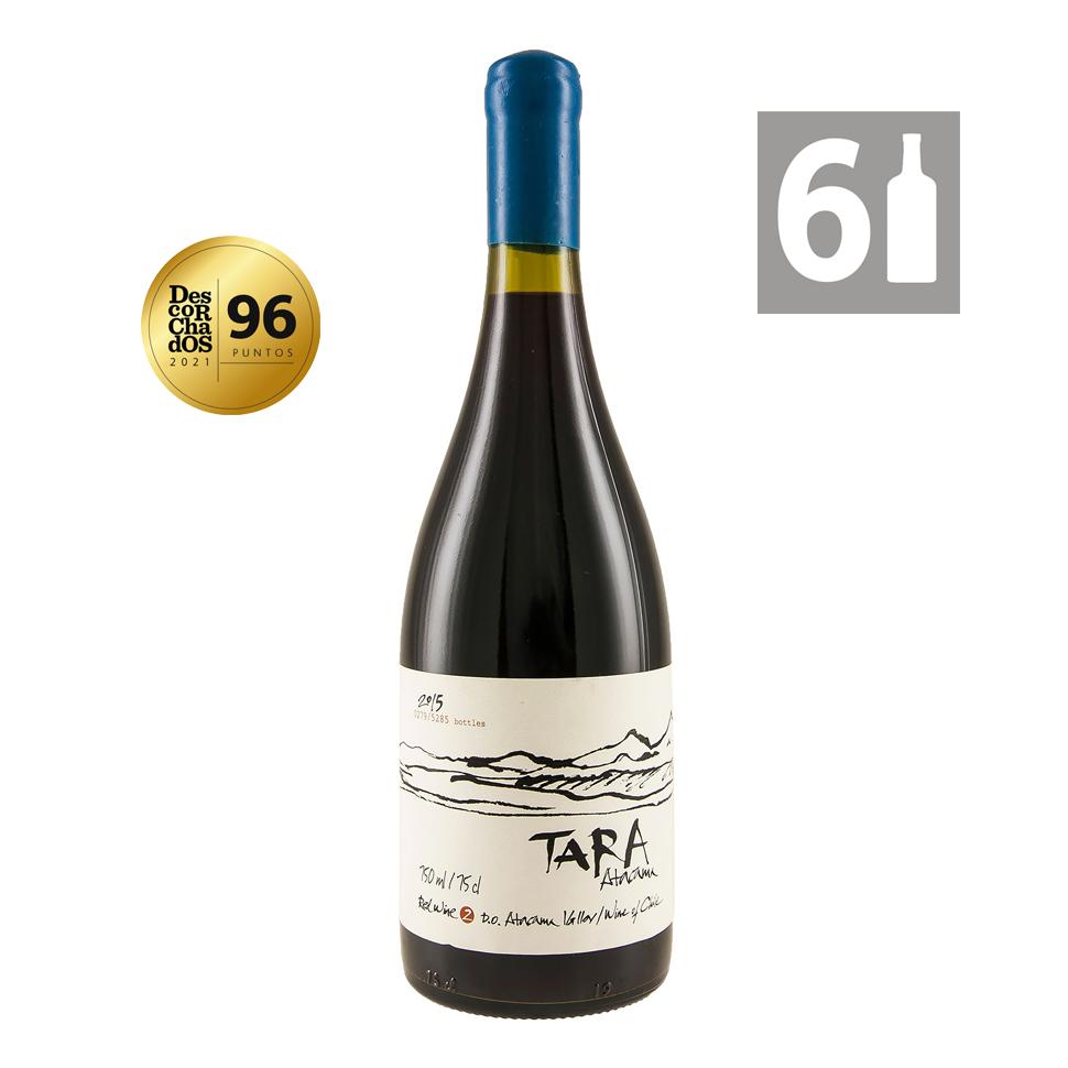 Pack 6 Tara Red Wine 2 Syrah / Merlot Grandes Vinos - Viña Ventisquero