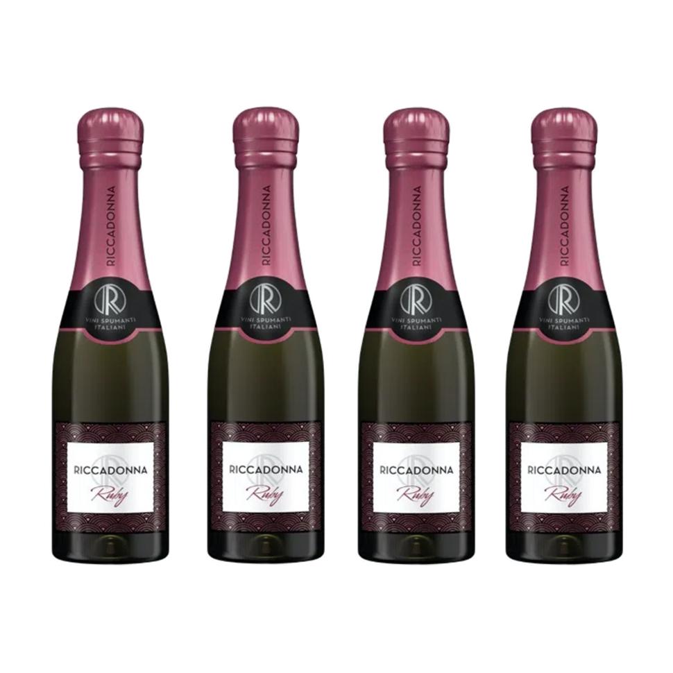 Pack 4 botellas 200cc Espumante Ruby - Ricadonna