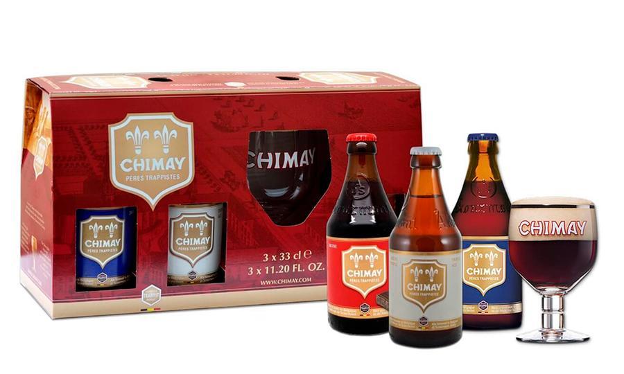 Pack 3 Chimay 330ml + 1 Copón - Bélgica