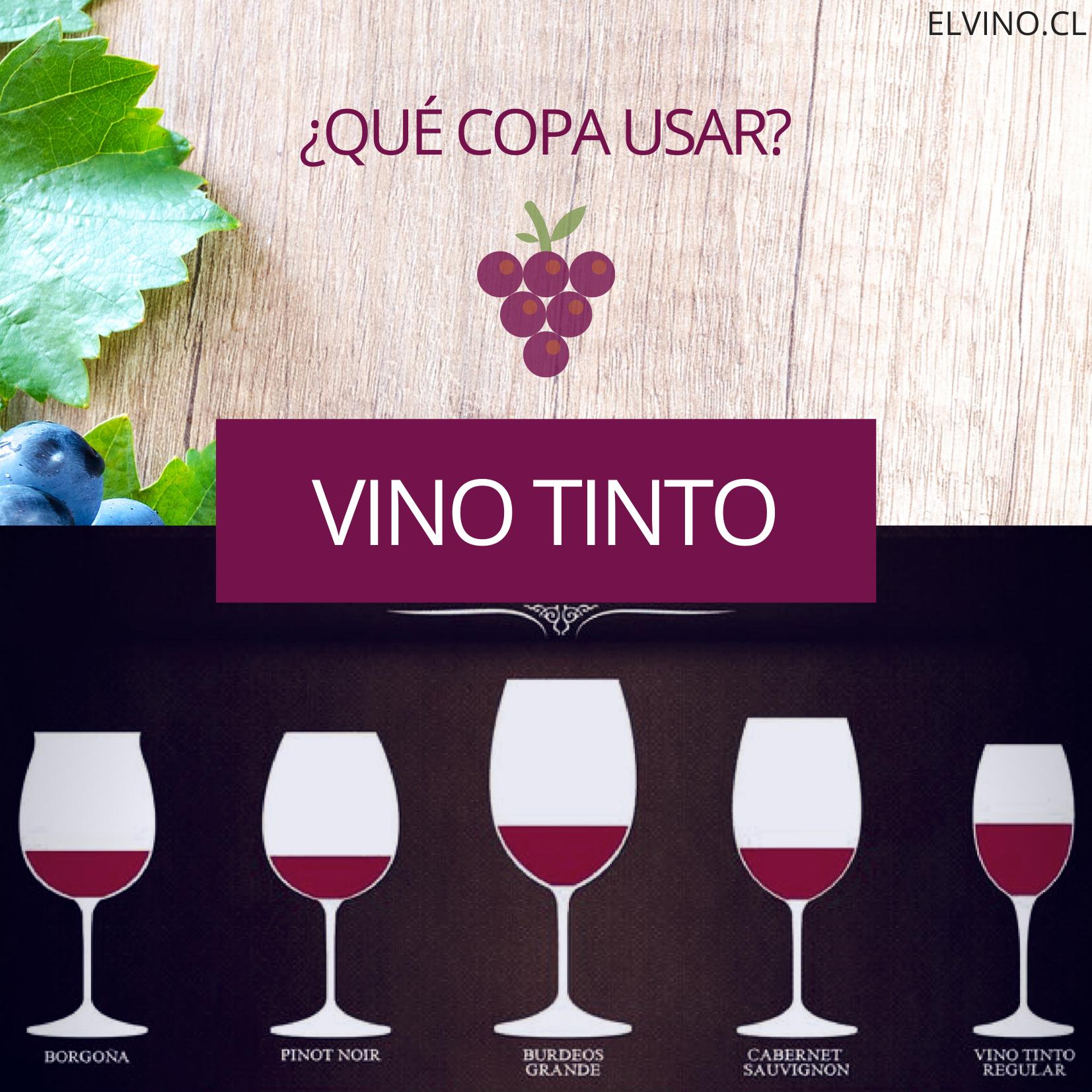 ¿Qué copas se usan para un vino tinto?
