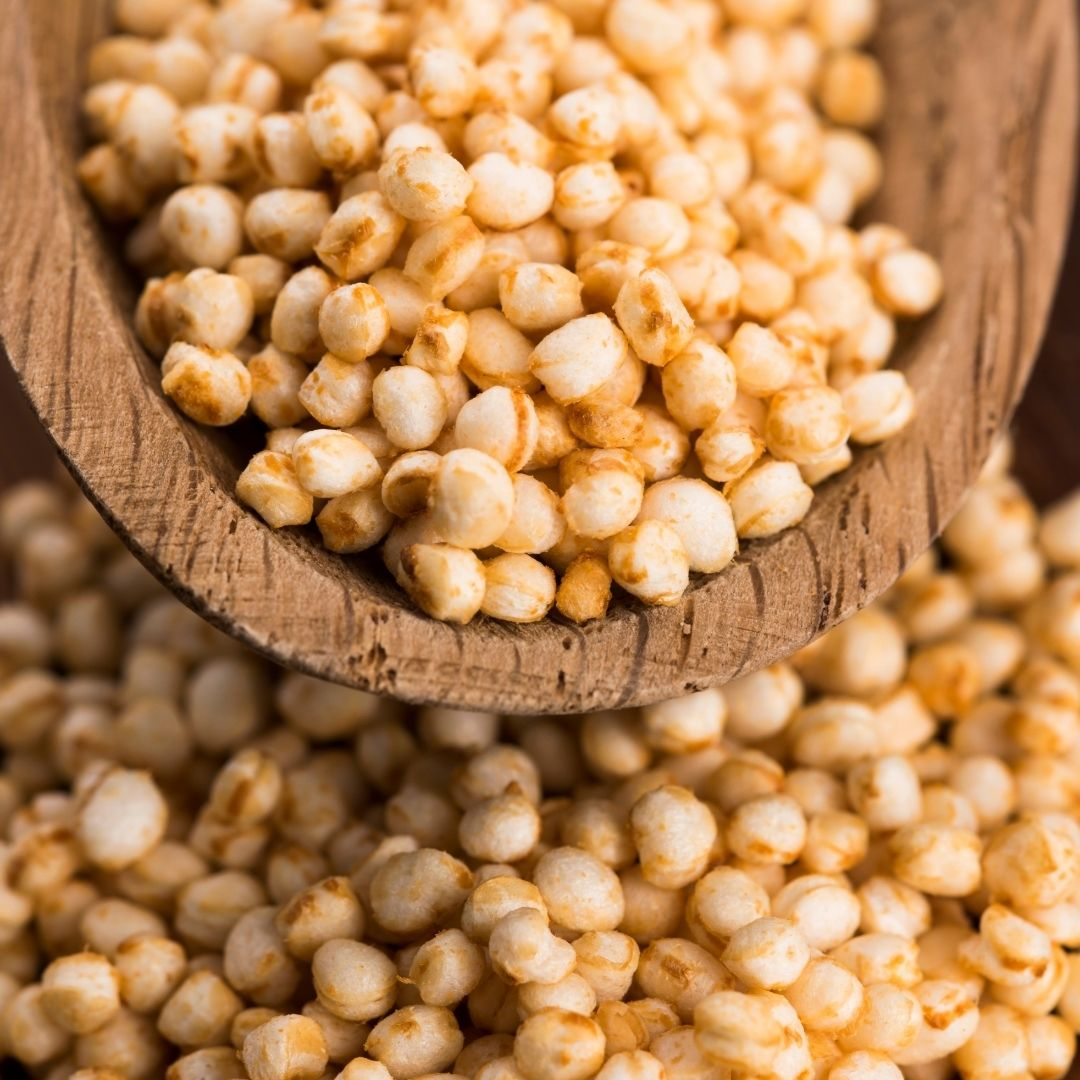 Quinoa Pop con azúcar