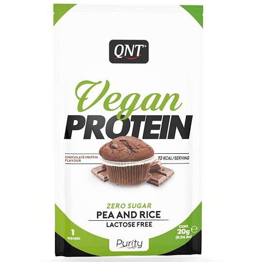 Proteina en polvo QNT- 20g- Chocolate o Vainilla