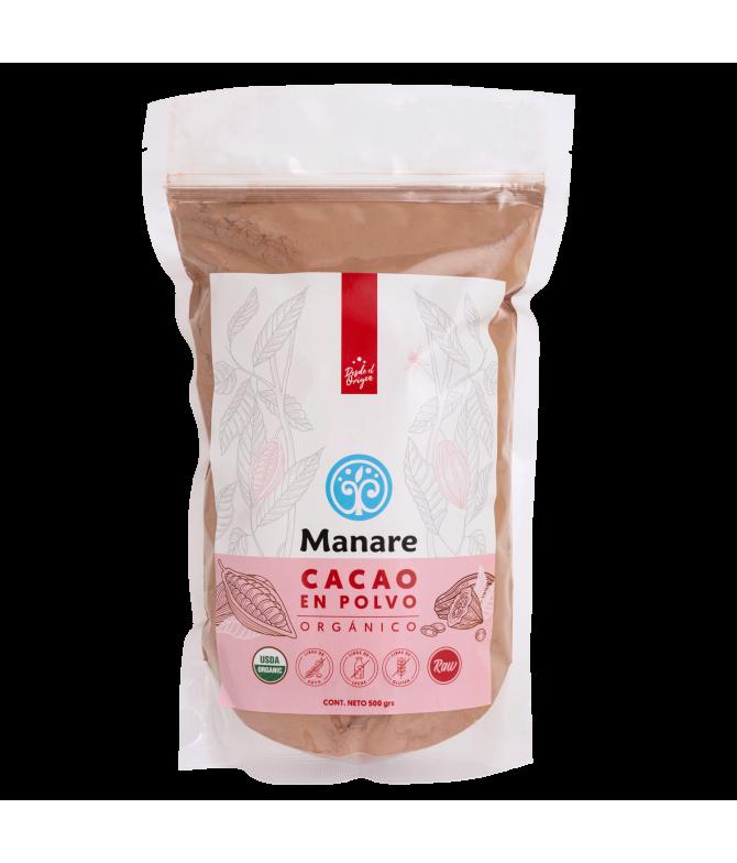 Cacao en Polvo Organico Manare 500 g