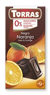 Chocolate 0% Azúcar Naranja