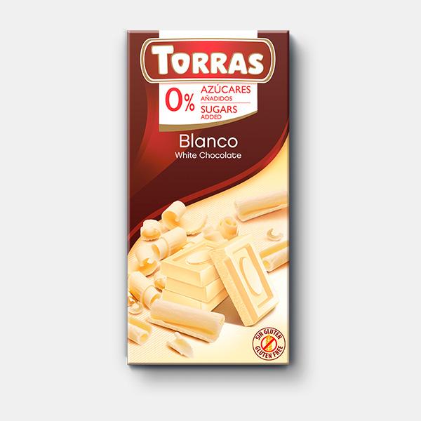 Chocolate blanco sin azúcar
