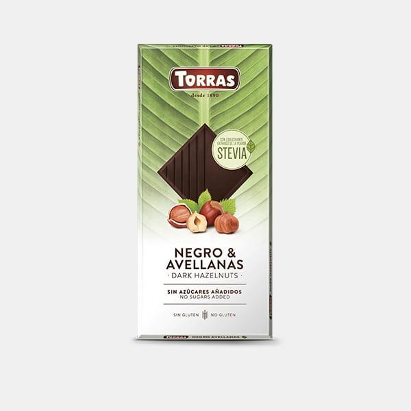 Chocolate Negro Avellanas Sin Azúcar Stevia