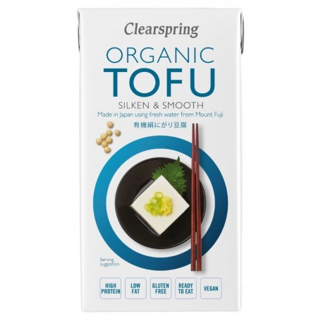 Tofu organic 300 gramos Marca Clearspring