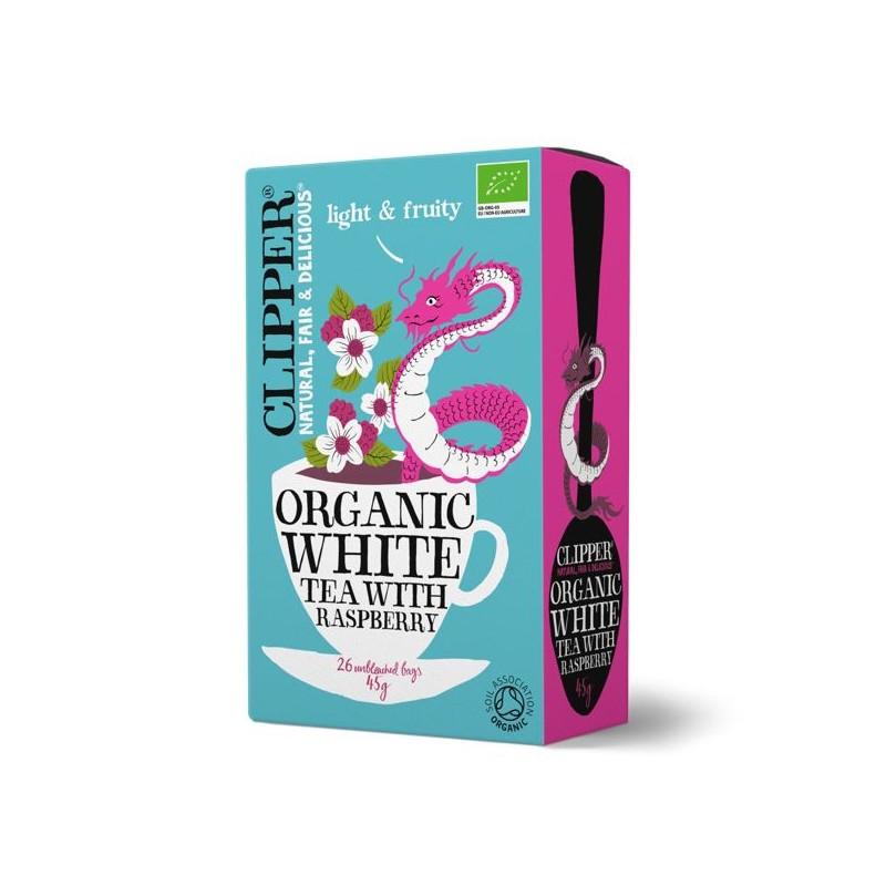 White tea raspberry 20 bags Marca Clipper