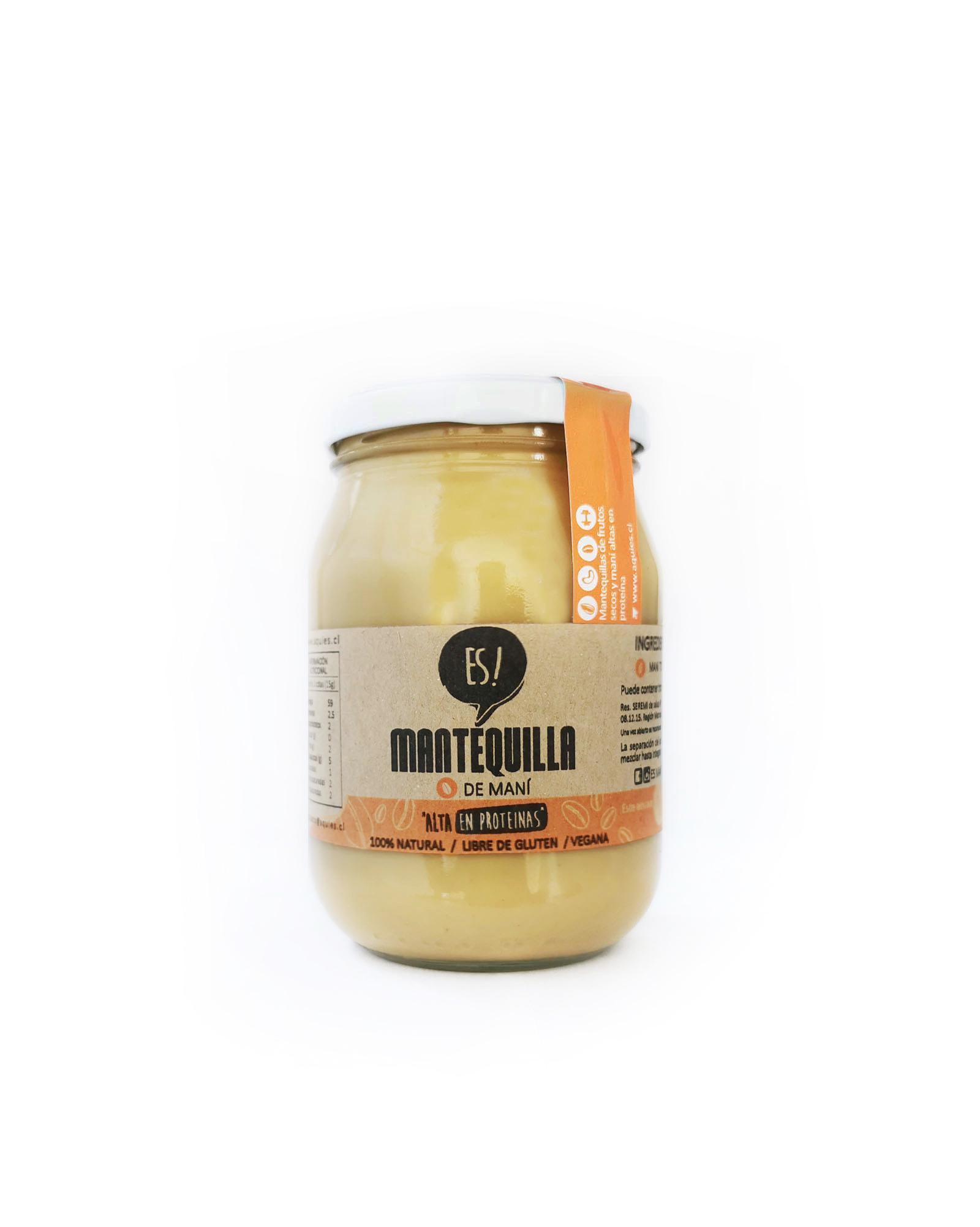 ES! mantequilla de mani crunch 250 gr