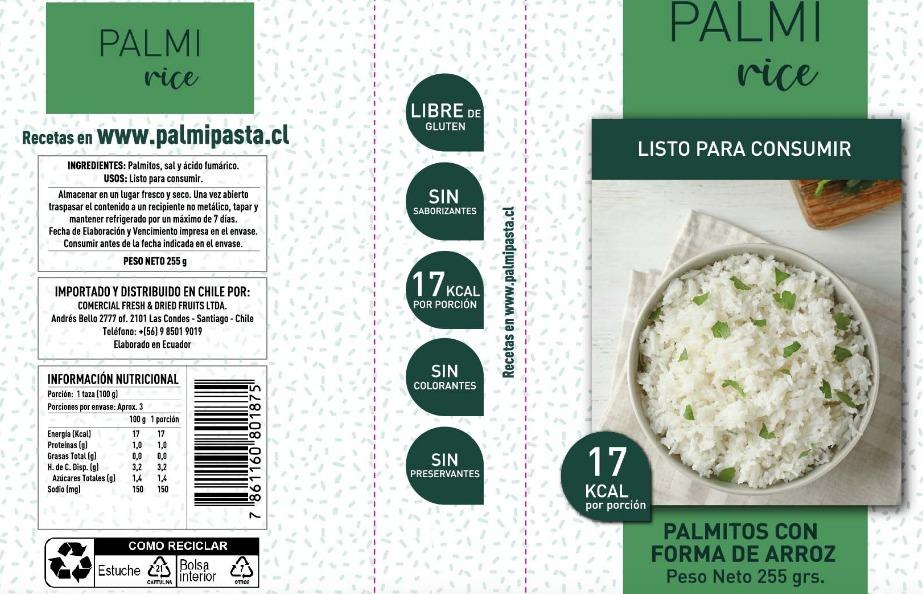Palmirice palmipasta arroz