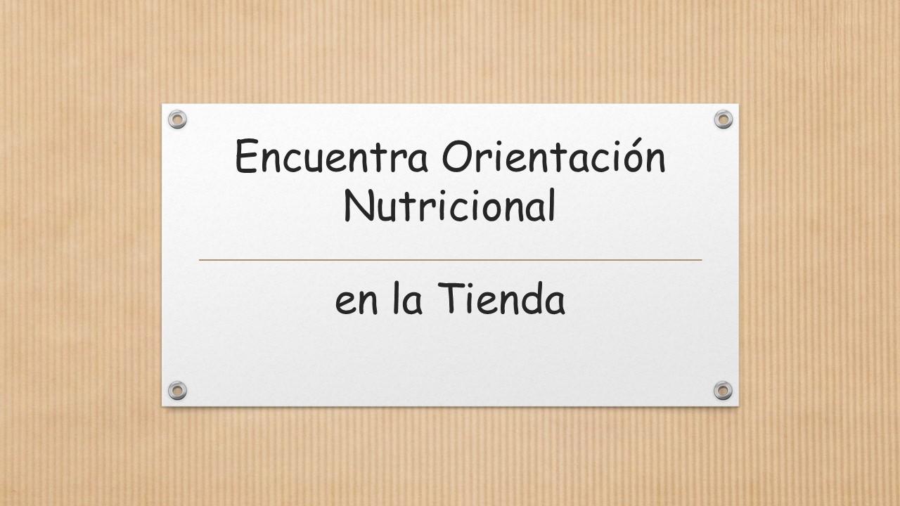 Asesoría Nutricional en Tienda