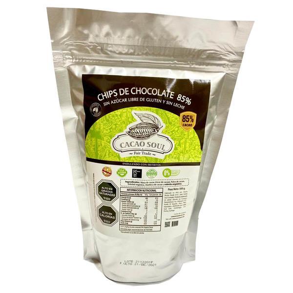 Chips de Chocolate 85%  Sin Azúc
