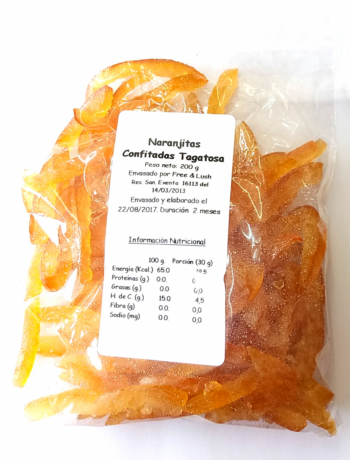 Naranjitas  Confitadas con Alulosa
