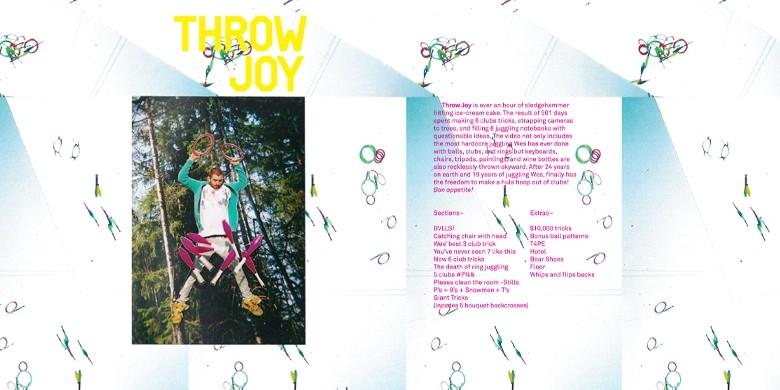 Throw Joy dvd