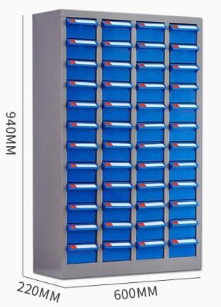 Estante Clasificador con 48 cajones con llave
