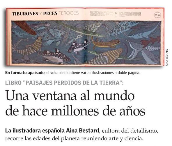 ARTÍCULO SOBRE PAISAJES PERDIDOS DE LA TIERRA EN DIARIO EL MERCURIO.