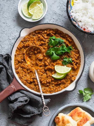 ¡Curry de lentejas con leche de coco!🥥 