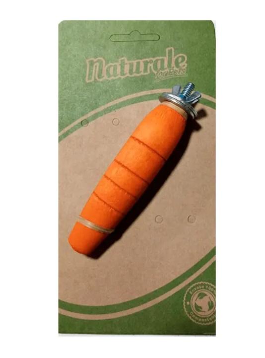 Naturale Juguete Zanahoria de madera con soporte