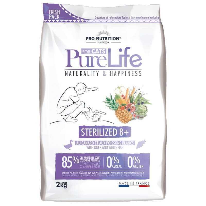Purelife Gato Esterilizado +8 2kg