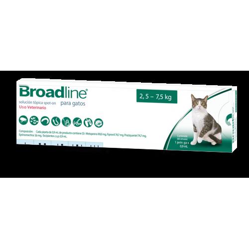 Broadline Antiparasitario Interno y Externo para Gatos