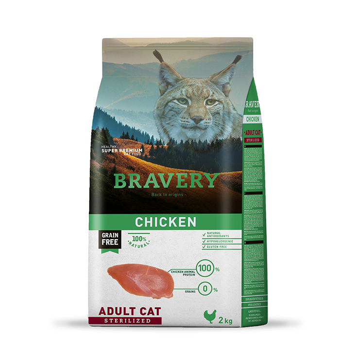 Bravery Gato Adulto Esterilizado Sabor Pollo