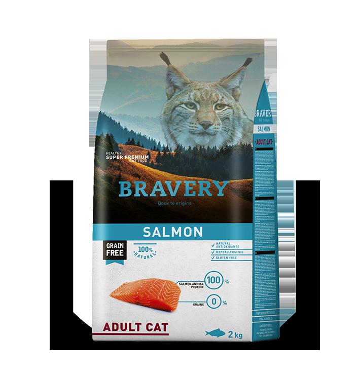Bravery Gato Adulto Sabor Salmon