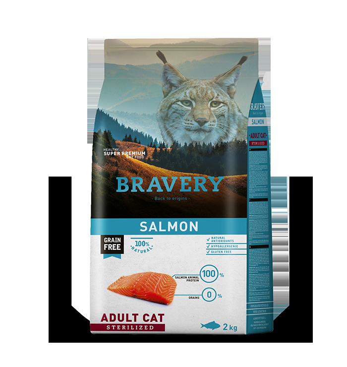 Bravery Adulto Esterilizado Sabor Salmon