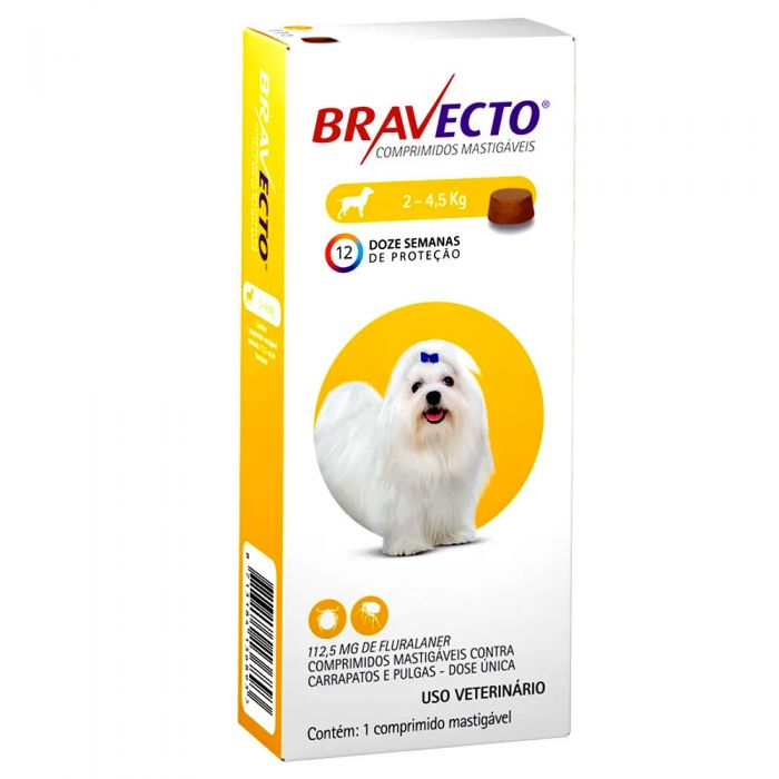 Bravecto 2-4,5 Kg Para Perro