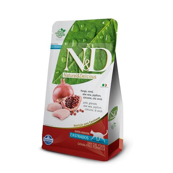 N&D Libre de Grano Adulto Castrado Pollo-Granada