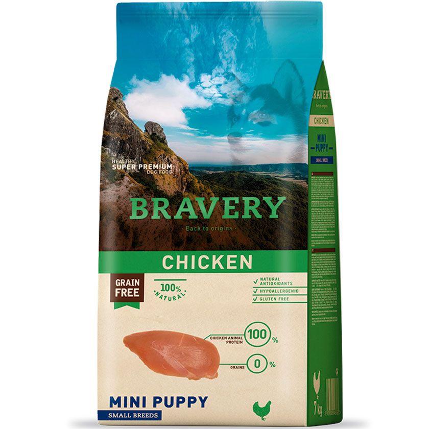 Bravery Perro Puppy Mini Sabor Pollo