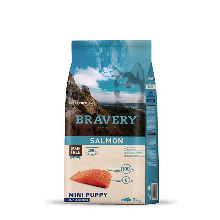Bravery Perro Puppy Mini Sabor Salmon
