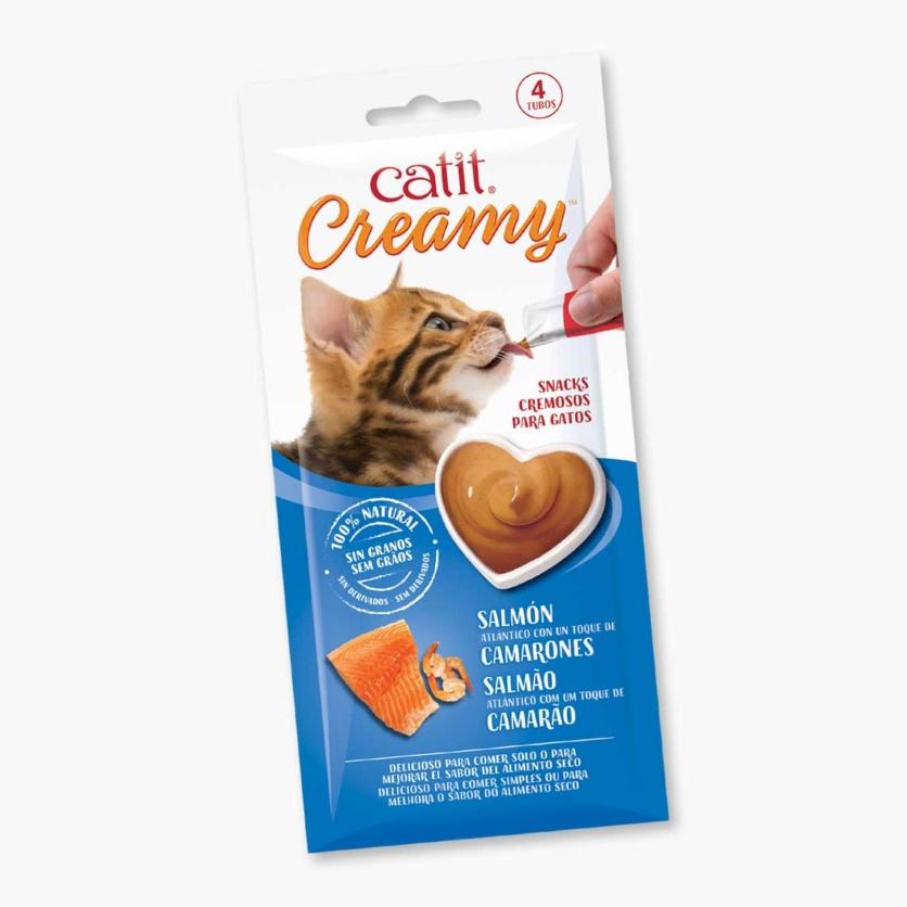 Snacks para gatos Cremosos Catit Creamy – 4 Tubos