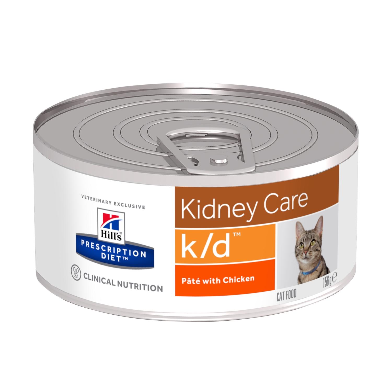 Lata Hill's PRESCRIPTION DIET k/d Alimento para Gatos con Pollo