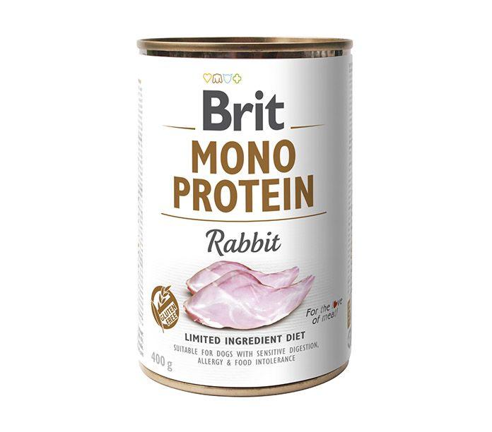 Brit Mono Protein lata monoproteica de carne de conejo 400g