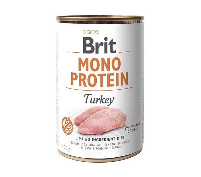 Brit Mono Protein lata monoproteica de pavo 400g