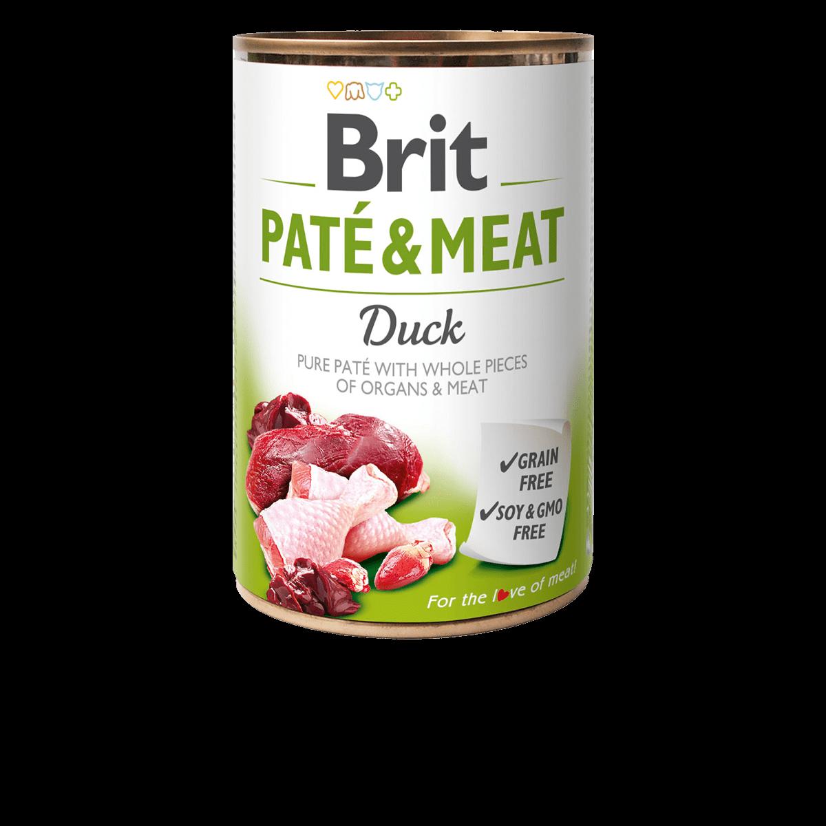 Brit PATE & MEAT lata de pato y paté 400gr