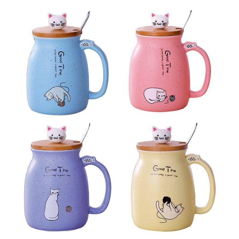 Taza de gato con tapa + cuchara