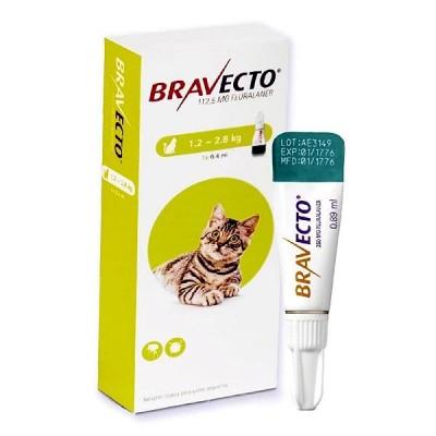 Bravecto 1,2 a 2,8 Kg Para Gato