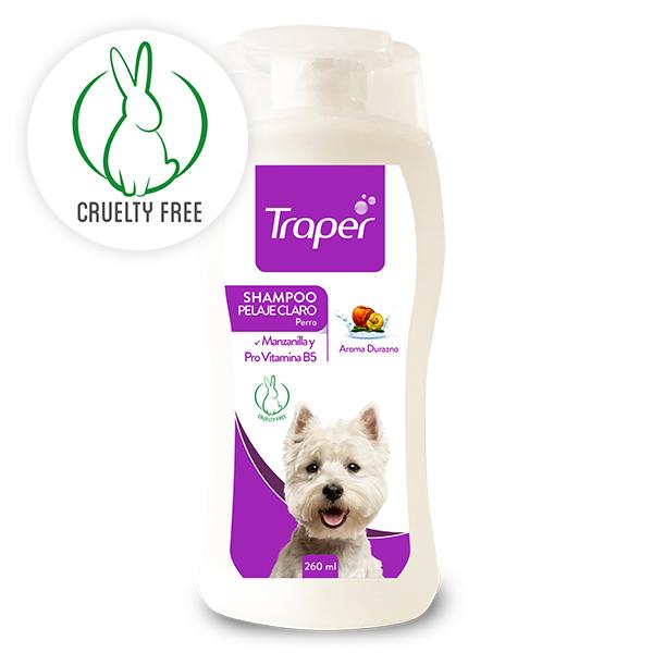 Traper shampoo para perros pelaje claro 260 ml