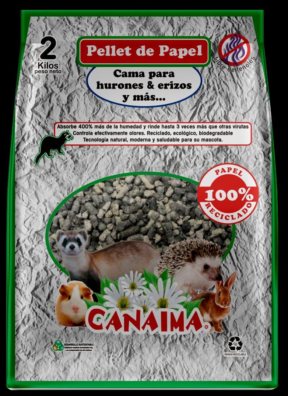 Canaiama Sustrato de papel reciclado 2 kg